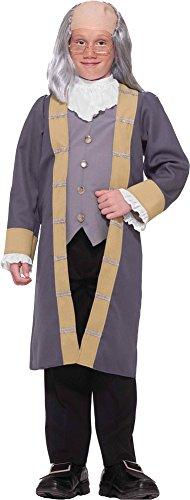 [Boys - Ben Franklin Child Costume 12-14 Halloween Costume] (Ben Franklin Costumes Child)