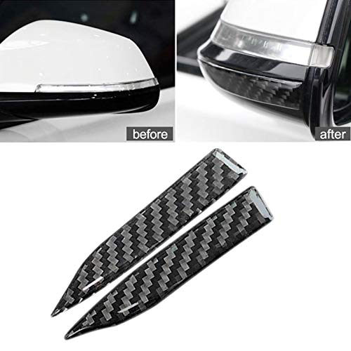 Rear View Mirror Guard - Xotic Tech Carbon Fiber Rearview Mirror Anti Scratch Protector Trim Sticker for Honda Audi Mercedes Custom Inside Rear View Mirror