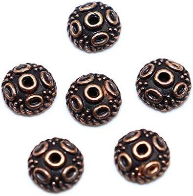 CHAOQIANG ジュエリーは、小用品を作るための100pcs /ロット5ミリメートル花びらビーズキャップチャームジュエリー用品合金ビーズキャップシルバーメッキ,高品質 (色 : Copper, サイズ : 5mm)