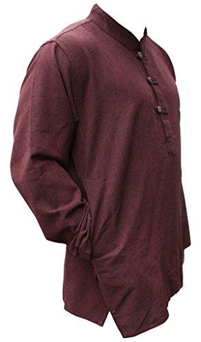 Camicia Canapa Nonno Marrone Hippy Uomo Maglia Fashion Chiaro Shopoholic EIwqzUAI