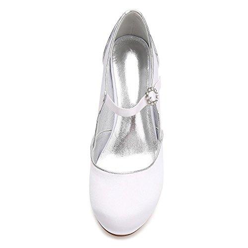 Boda De Invierno Libre E17061 Mujeres Zapatos Primavera Las Tamaño Gran Brillos 55 L Al Y White Oficina Verano Aire yc Otoño qAwxtp4g