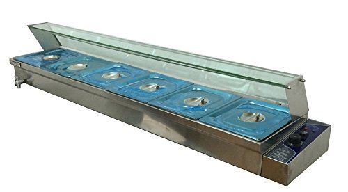 67'' Counter-top Warmer 6-Pan Food Warmer Bain Marie Restaurant Steam Table by Kitchen Supply
