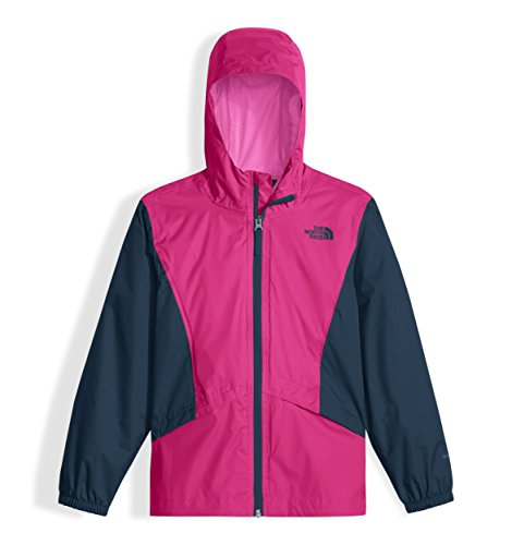 The North Face Kids Girl's Zipline Rain Jacket (Little Kids/Big Kids) Petticoat Pink/Blue Wing Teal/Gem Pink Medium ()