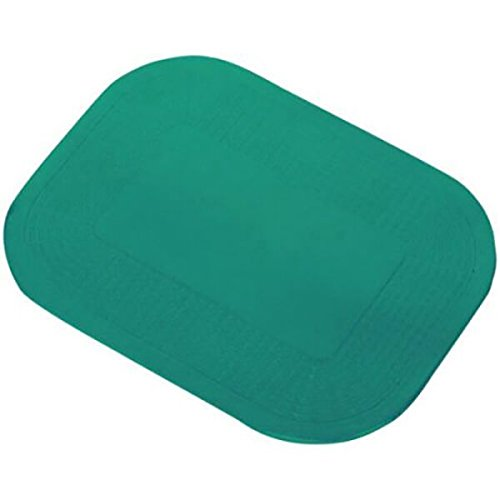 Dycem Non-Slip Pad, Green, Textured Rectangle, 10'' x 14'' x 1/8''