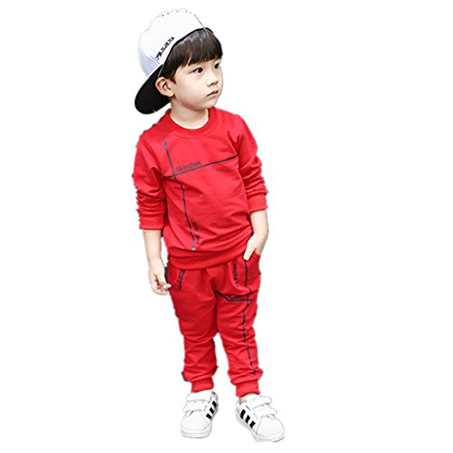 Free Luv Skis (FTSUCQ Kids Pullover Sports Tracksuits Sweatersuits Coat + Pants,Red 130)