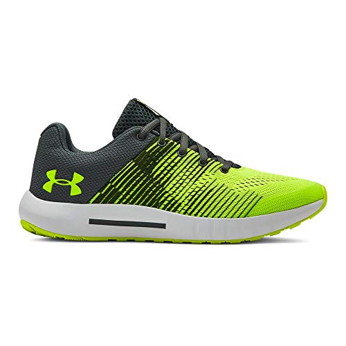 Under Armour Boys' Grade School Pursuit Graphic Sneaker, High-Vis Yellow (100)/High-Vis Yellow, 5 (Size 5 Big Boys Shoes)