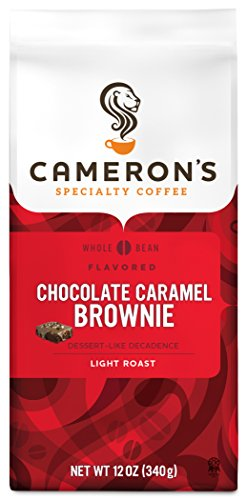 Cameron's Coffee Roasted Whole Bean Coffee, Flavored, Chocolate Caramel Brownie, 12 Ounce