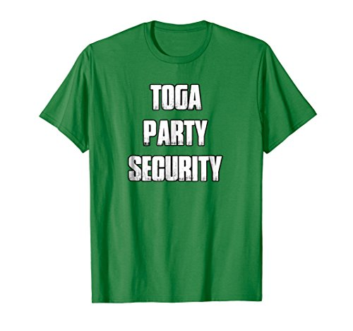 Mens Toga Party Security Shirt College Party Shirt XL Kelly Green