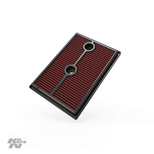 K&N 33-3004 Filtro de Aire Coche, Lavable y Reutilizable