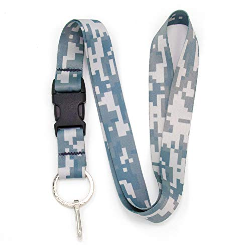Buttonsmith Urban Camo Premium Lanyard - with Buckle and Flat Ring - Made in The USA