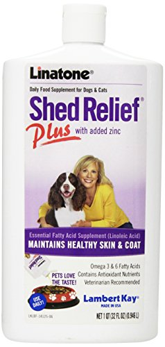 Lambert Kay Shed Relief Plus Dog and Cat Skin and Coat Liquid Supplement, 32 ()