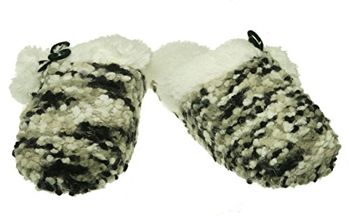 Clog Concepts Knit Women's Large Popcorn International Black Grey Slippers INC X XxH5qRw