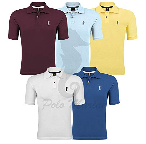 Kit 05 Camisetas Gola Polo - Polo Marine (Kit 08, M)