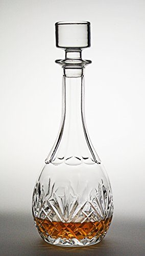 Bezrat Wine Decanter - 100% Hand Blown Lead-free Crystal Glass,