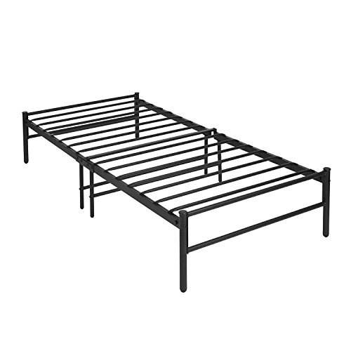 Green Forest 14 inch Twin Bed Frame Heavy Duty Steel Slats Mattress Foundation Metal Platform Beds Base Box Spring Replacement Easy to Assemble, Black