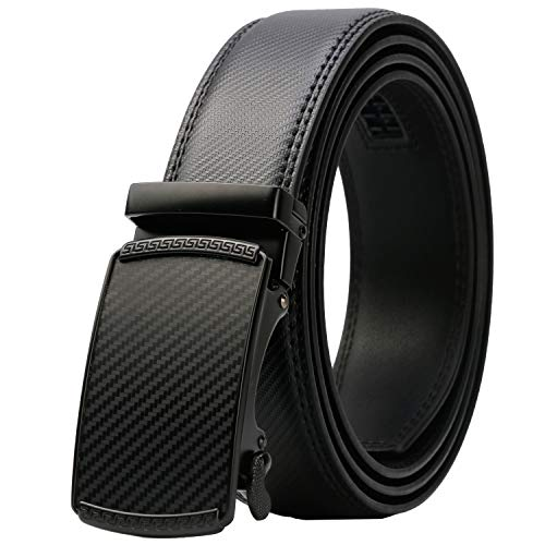 Lavemi Men's Real Leather Ratchet Dress Belt with Automatic Buckle,Elegant Gift Box(55-44371 44