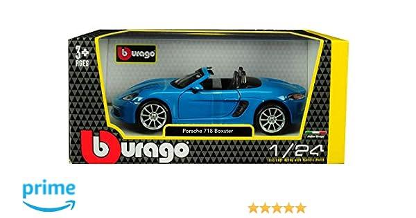 Bburago 1//24 Scale Porsche 718 Boxster Orange Diecast Cars Model Kids Toys