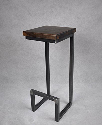 Design möbel stahl  Magnetic Mobel® Barhocker Stahl Holz massiv C-Style Barstuhl ...