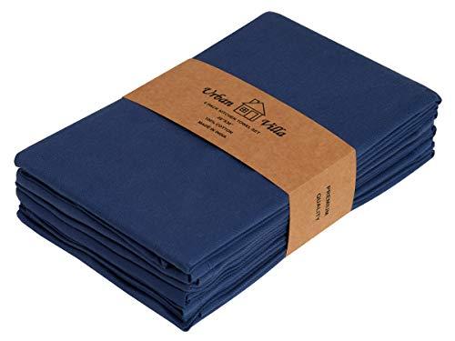 - Urban Villa Kitchen Towels, Premium Quality,100% Cotton Dish Towels, Ultra Soft,(Size: 20X30 Inch), Indigo Blue Highly Absorbent Bar Towels & Tea Towels - (Set of 6)