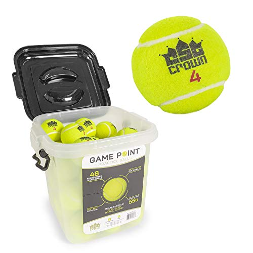 - GMP Set of 48 Regulation Size Tennis Balls - Comes with Heavy Duty Carrying Bucket!