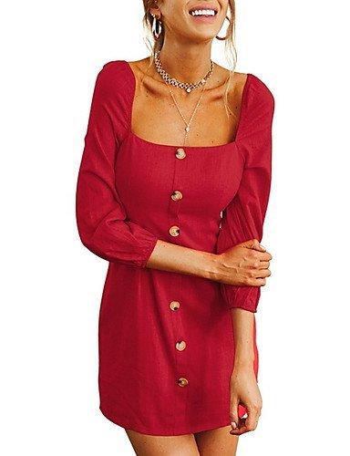 Cintura Mujer Sobre Noche Red Vaina S Escote Alta La Rodilla Barco Delgado TTDRESS Vestido ZRqAdYYw