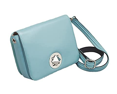 Concealed Carry Purse - Crossbody Organizer by Gun Tote'n Mamas (Ice Blue Lambskin) - Lambskin Leather Tote Bag