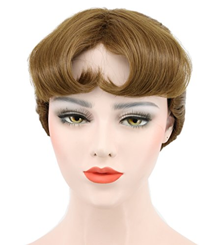 (Karlery Women's Short Wave Braided Brown Ponytail Wig Anime Party Cosplay Halloween Wig)