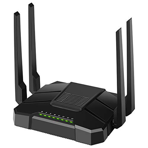 【2019 Newest】 Smart WiFi Router AC1200 Dual Band Gigabit Router High Speed Wireless Internet Router with USB 2.0 & SD Card Ports for Home Office Gaming