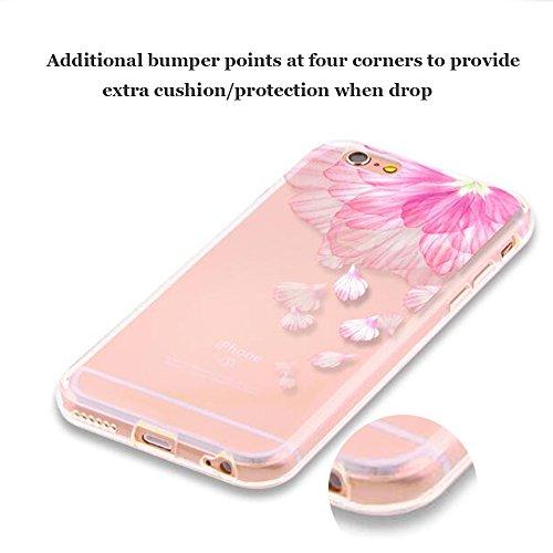 Funda iPhone 7 Case Clear Sunroyal® Premium TPU Carcasa Impresión Suave Ultra Slim / Resistente a los Arañazos Flexible Bumper Transparent Case Cover [Ultra-delgado] [Shock-Absorción] [Anti-Arañazos]  A-10