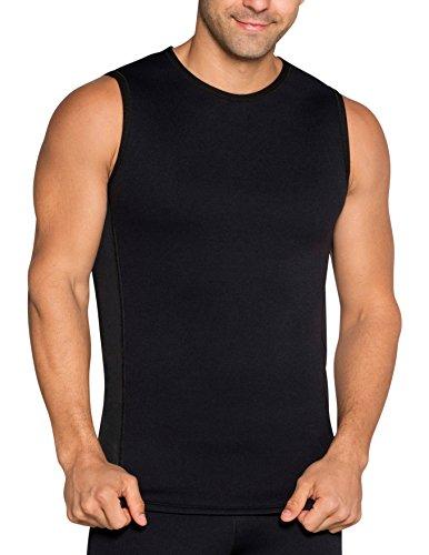Delfin Men's Heat Maximizing Neoprene Fitness Top, Black, Small