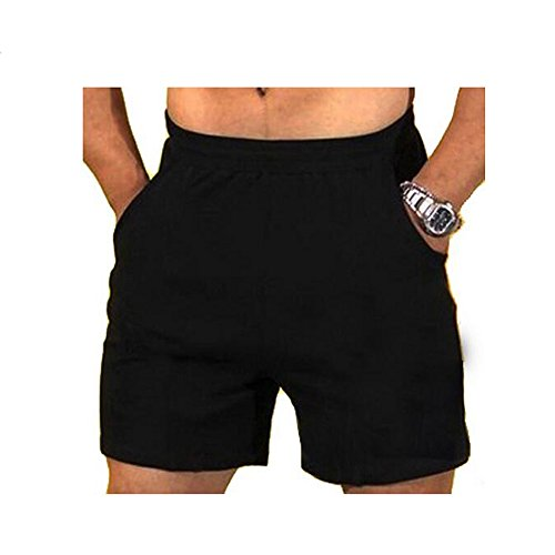 palglg Men's Athletic Cotton Jersey Shorts Performance Black M Without Logo