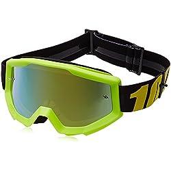 100% Unisex-Adult Goggle, Yellow,Mirror Gold, Una talla