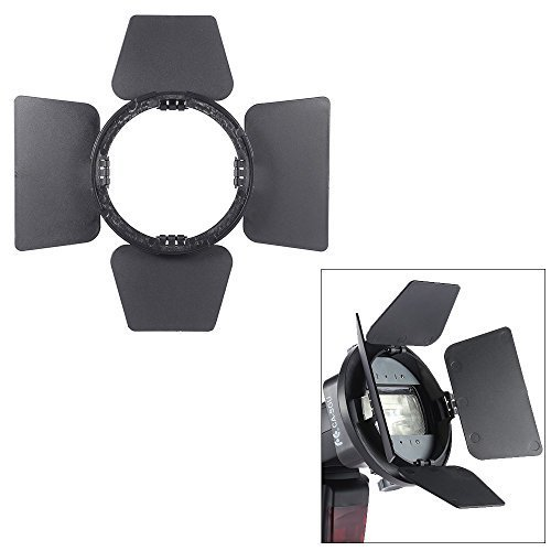 Andoer Four-leaf Universal Mount Barndoor Flash Light Photography Accessory for Nikon Canon Yongnuo Speedlight by Andoer