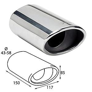 Cartuner Double Pipe Sports Exhaust Tailpipe Exhaust Trim Bezel 2/x 60/mm