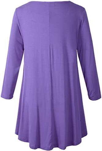 LARACE Women 3//4 Sleeve Tunic Top Loose Fit Flare T-Shirt