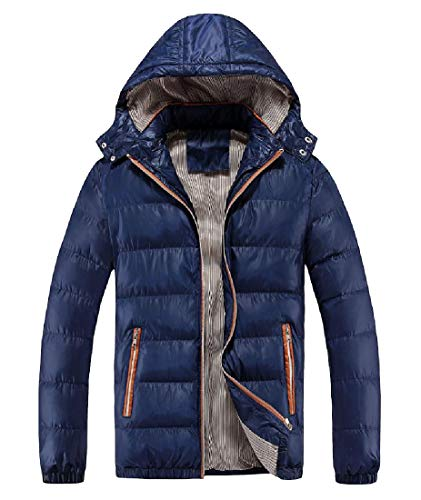 Chunky Men with Packable Oversized Blue Jacket Howme Chin Anorak Dark Guard xwZnB51