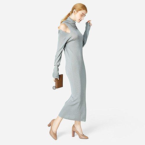 LIANGJUN Women High-heeled Shoes Ankle Boots Fashion, 2 Colors, 8 Sizes Available ( Color : Black , Size : EU41=UK7=L:255mm ) Beige
