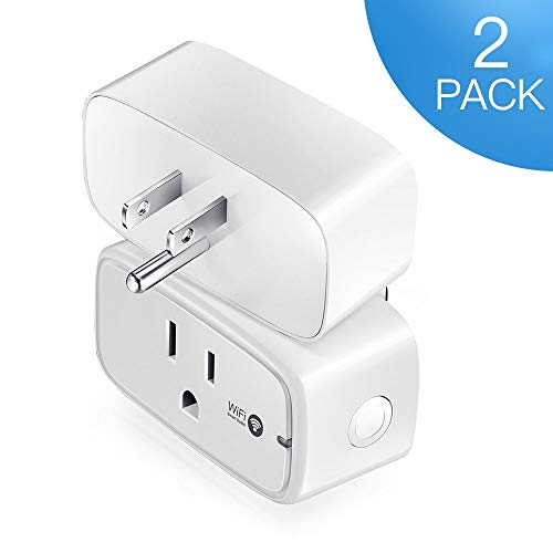 Mini Smart Plug 2 Pack, GAVAER Wi-Fi Outlet Remote Smart Socket Control Plug From Anywhere Works with Smartphones, Amazon Alexa and Google Home (White)