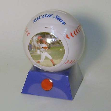 Baseball Musical (Lil' All Star Baseball Musical Picture Frame Coin Bank with Bubble Gum - For Your Favorite Hall of Famer!)