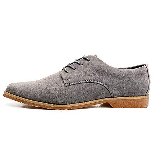 casual la britannico Business Grigio EU 39 Color tendenza Primavera 2018 stile punta formali Oxford Fang Grigio Dimensione scarpe shoes a da uomo delle coglie Estate qwFvWxXUA4