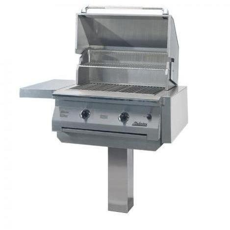 Solaire 30 Inch Infravection Natural Gas Grill On In-ground Post - - Solaire Inch 30 Natural Infravection
