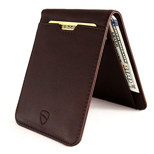 Vaultskin MANHATTAN Slim Bifold Wallet with RFID Protection for Cards and Cash - Fold Wallet Skin Bi