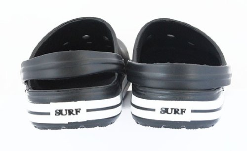 Mens Womens Unisex Surf Clogs Garden Shoes Shower Mules Beach Shoes UK 7-11 NEW Black zG8NGxB