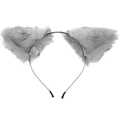 E-TING Cat Fox Long Fur Ears Anime Cosplay Headband Hairband Halloween Cosplay Party Costume (Cute Fox)