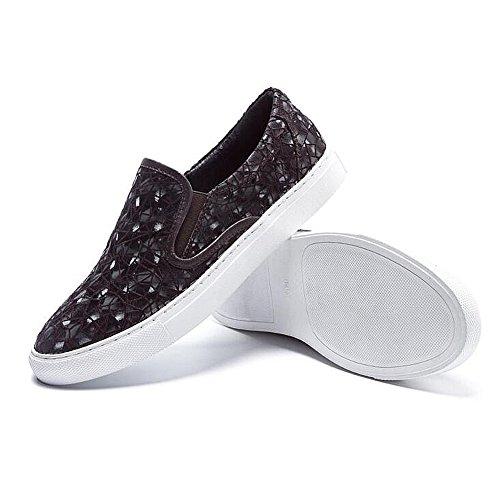 Herren Freizeitschuhe Dress Jugendliche Outdoor Mode Canvas Schuhe Rutschen Schwarze Persönlichkeit Braun