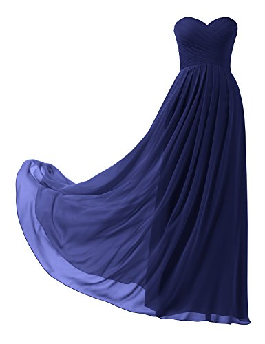 Corset Prom Dresses 2016 - Topwedding Remedios A-Line Chiffon Bridesmaid Dress Strapless Long Prom Evening Gown, 28 Royal Blue,US6