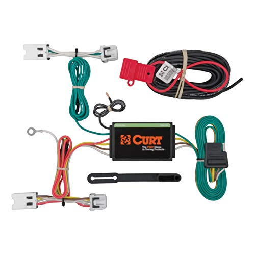 CURT 56205 Vehicle-Side Custom 4-Pin Trailer Wiring Harness for Select Nissan ()