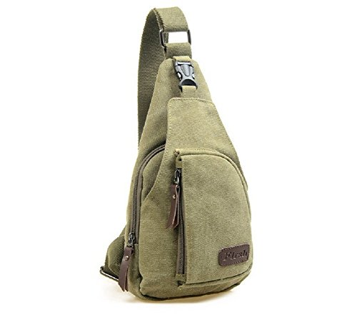 Bag Canvas Crossbody S MiCoolker Green Army Small Messenger Military Shoulder B5pUYwq