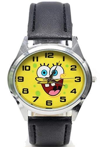 - Spongebob Squarepants Character Genuine Leather Band Wrist Watch