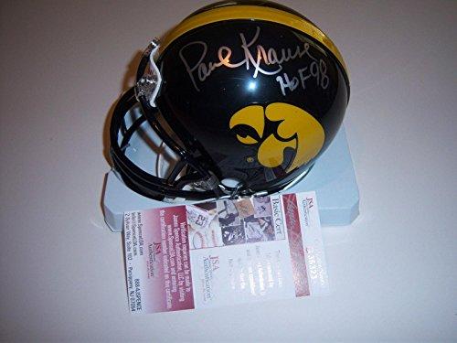 - Paul Krause Autographed Mini Helmet - Iowa Hawkeyes hof coa - JSA Certified - Autographed College Mini Helmets